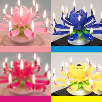 Nến Sinh nhật 3D Nở Hoa phát nhạc